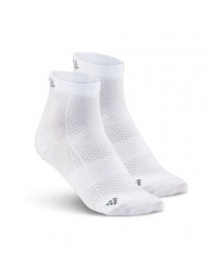 Skarpety treningowe Craft Cool Mid 2-pack Sock białe
