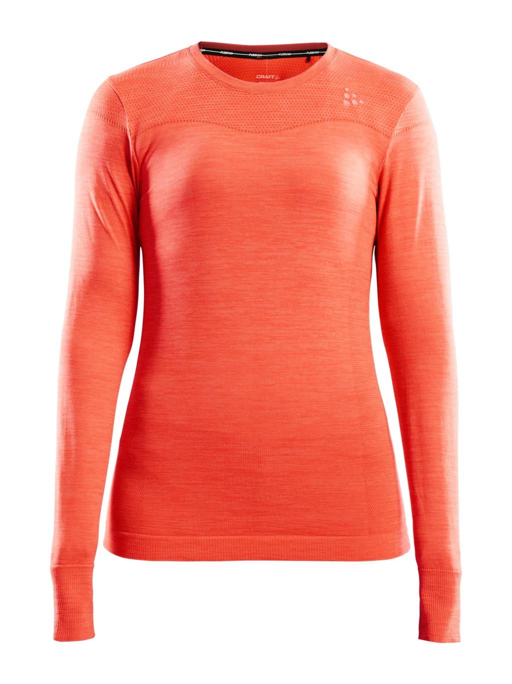 Koszulka termoaktywna damska Craft Fuseknit Comfort RN LS W Pomarañczowa