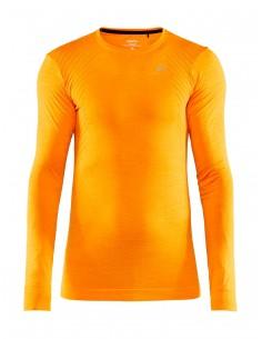 Koszulka termoaktywna męska Craft Fuseknit Comfort RN LS Pomarańczowa