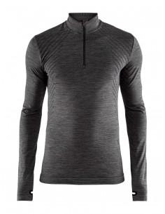 Koszulka termoaktywna męska Craft Fuseknit Comfort ZIP Szara