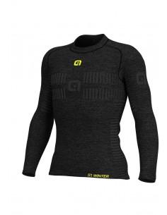 Koszulka termoaktywna męska Alé Cycling Seamless Wool Baselayer LS Jersey