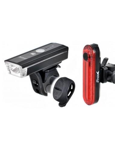 Zestaw lamp rowerowych ProX Aero