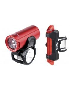 Zestaw lamp rowerowych ProX Pictor