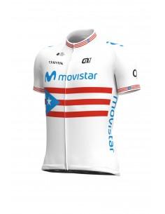 Koszulka rowerowa męska Alé Cycling Pro Team Replica Movistar Puerto Rican Champion