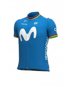 Koszulka rowerowa męska Alé Cycling Pro Team Replica Movistar World Champion