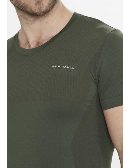 Koszulka treningowa męska Endurance Jaro Melange Seamless S/S