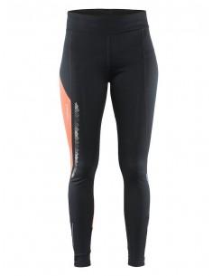 Spodnie damskie Craft Brilliant 2.0 Thermal Tights, czarno-czerwone