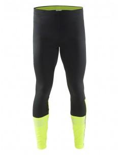 Spodnie męskie Craft Brilliant 2.0 Thermal Tights, czarno-żółte