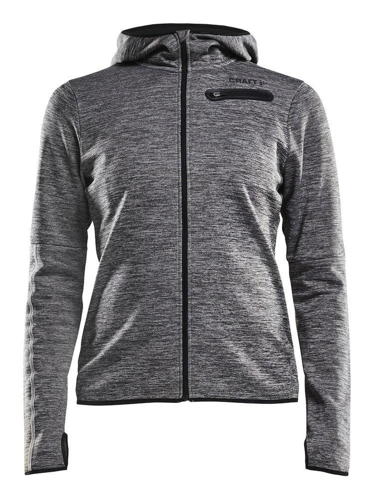 Bluza damska Craft Eaze Jersey Hood Jacket, szara Grey XS