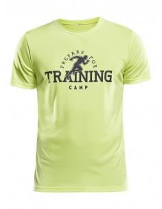 Koszulka sportowa męska Craft Eaze SS Graphic Tee żółta - training camp