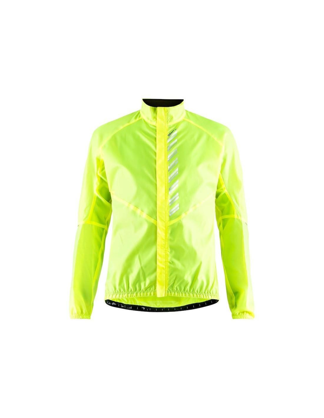 fc90d5d943969 Kurtka męska Craft Mist Wind Jacket, żółta - STSklep