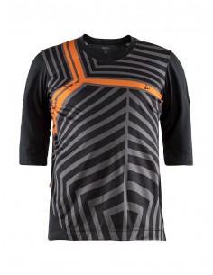 Koszulka rowerowa męska Dust XT Jersey, czarno-szaro-pomarańczowa