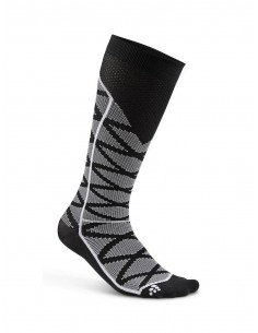 Skarpety kompresyjne Craft Compression Pattern Sock czarno-szare