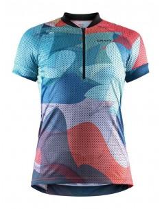 Koszulka rowerowa damska Craft Velo Art Jersey, niebieska