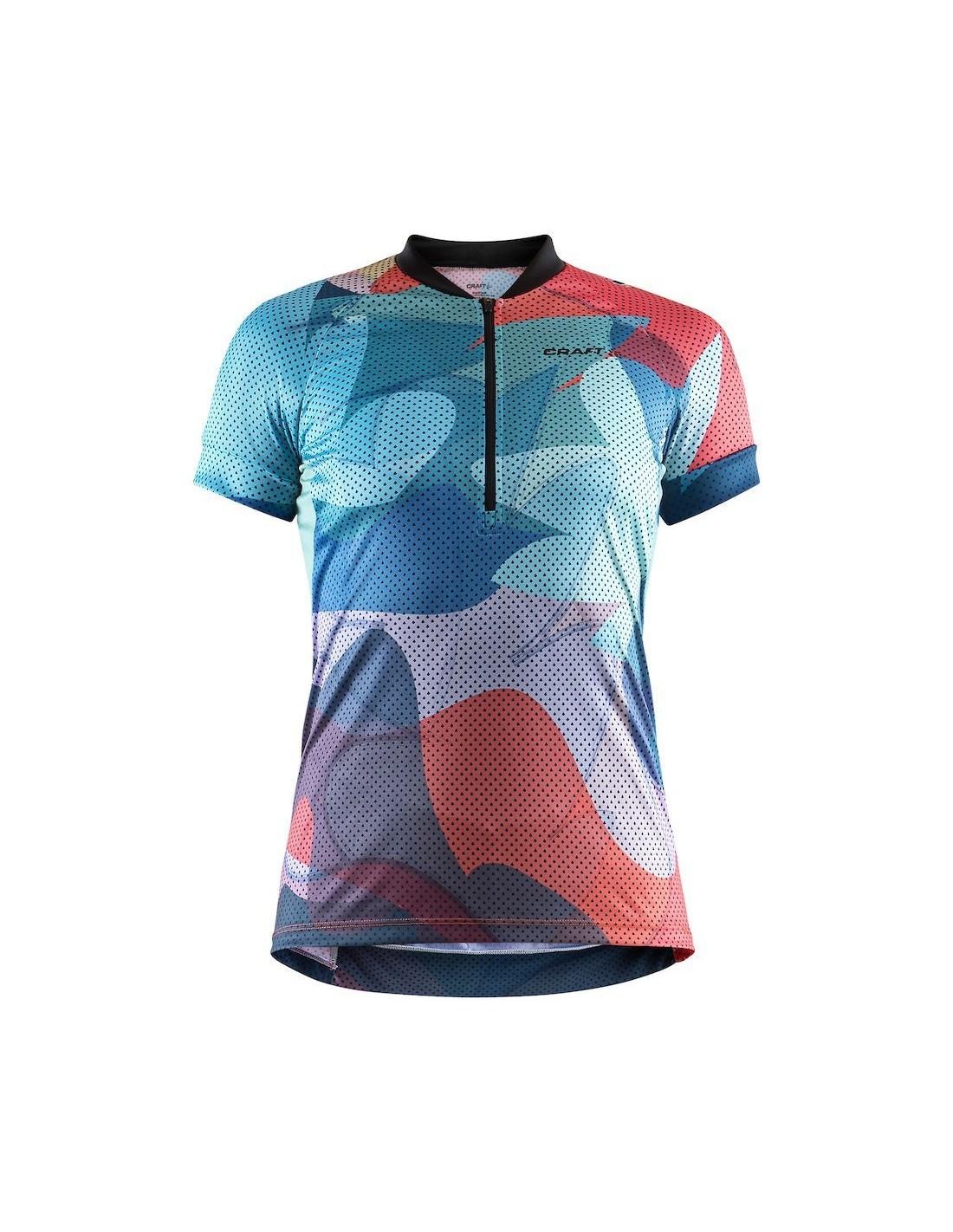 ccd2cf6403658 Koszulka rowerowa damska Craft Velo Art Jersey, niebieska - STSklep
