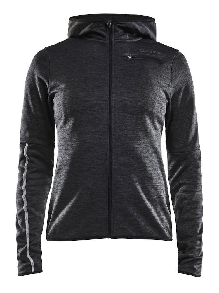 Bluza z kapturem damska Craft Eaze Jersey Hood Jacket, czarno-szara Black M