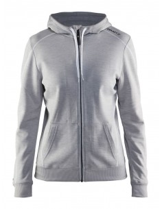 Bluza damska Craft In The Zone Full Zip Hood, szara