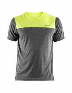 Koszulka sportowa Craft Eaze SS Tee szaro-żółta