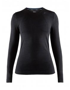 Koszulka termoaktywna damska Craft Fuseknit Comfort RN LS W czarna