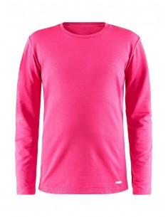 Koszulka termoaktywna dziecięca Craft Essencial Warm RN LS, różowa