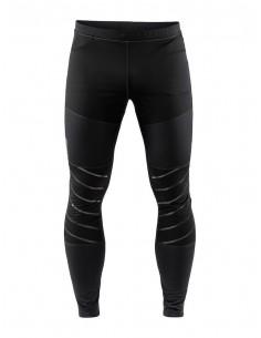 Spodnie do biegania męskie Craft Warm Train Wind Tights, czarno-szare