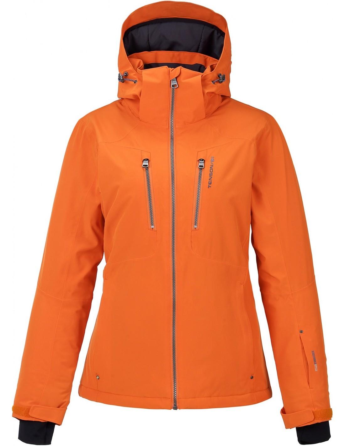 8cb08496c7c6a Kurtka narciarska damska Tenson Yoko, pomarańczowa - STSklep