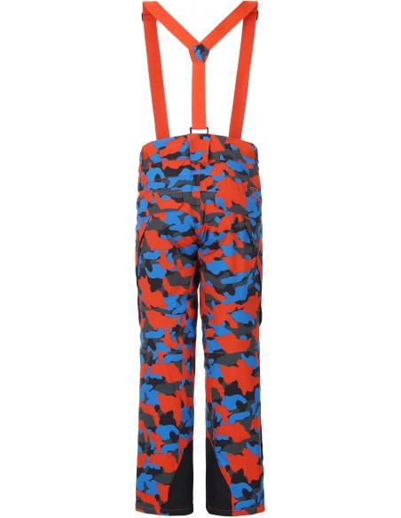 Tenson Zeus Camo Pomarańczowe Spodnie Narciarskie Męskie