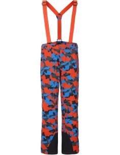 Spodnie narciarskie męskie Tenson Zeus Camo, pomarańczowe