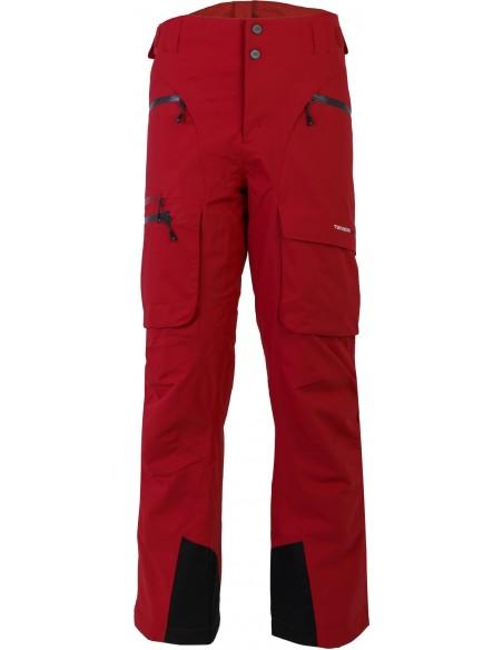 Tenson Buck Czerwone Spodnie Narciarskie Dermizax