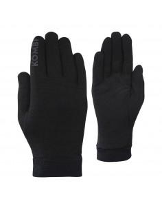 Rękawice męskie Kombi Merino 100% Liner, czarne