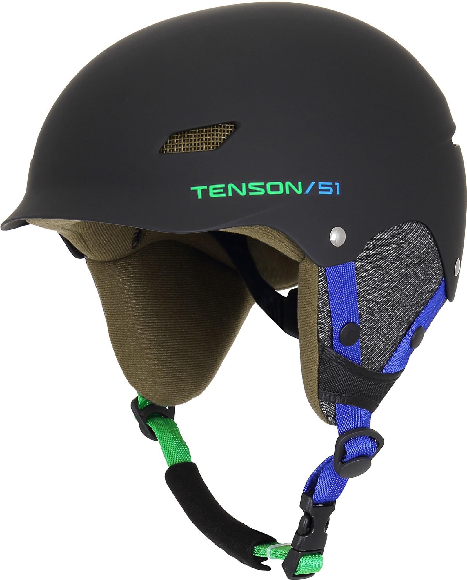Kask narciarski dziecięcy Tenson PARK, czarny Black one size