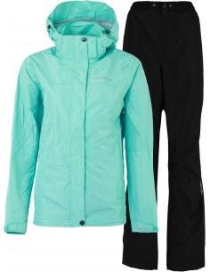 Zestaw kurtka i spodnie damskie Tenson Monitor Set W, turkusowy/czarny