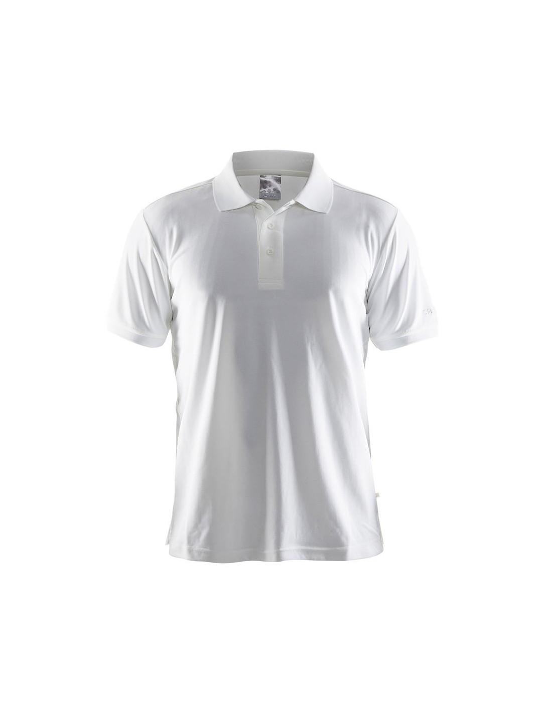 e330712796ed6c Koszulka męska Craft Polo Shirt Pique Classic biała - STSklep