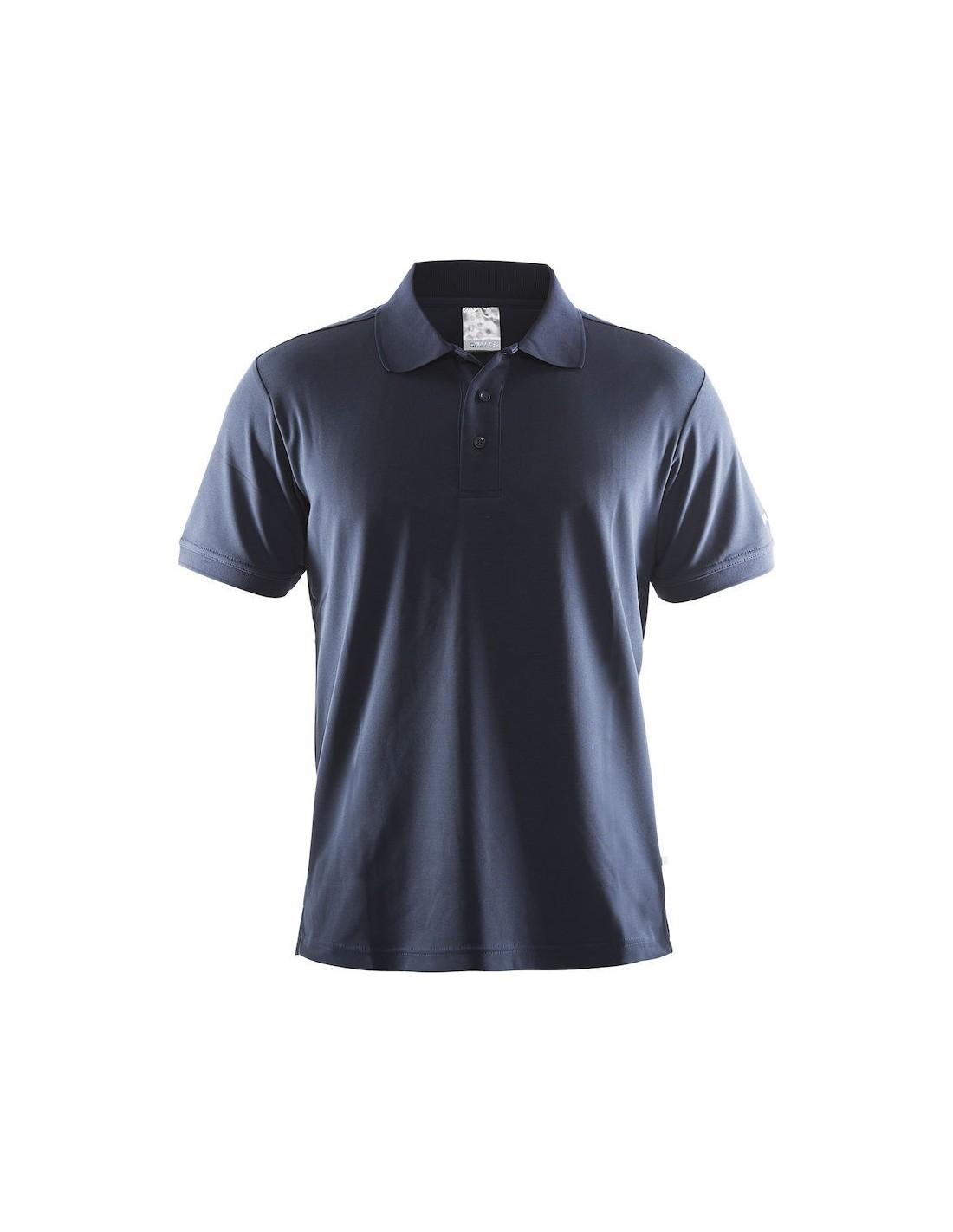 fb617fe15eeb9c Koszulka męska Craft Polo Shirt Pique Classic granatowa - STSklep