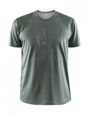 Treningowa Koszulka Męska Craft Eaze SS Logo Mesh Tee Khaki