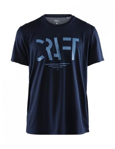 Treningowa Koszulka Męska Craft Eaze SS Logo Mesh Tee Granatowe