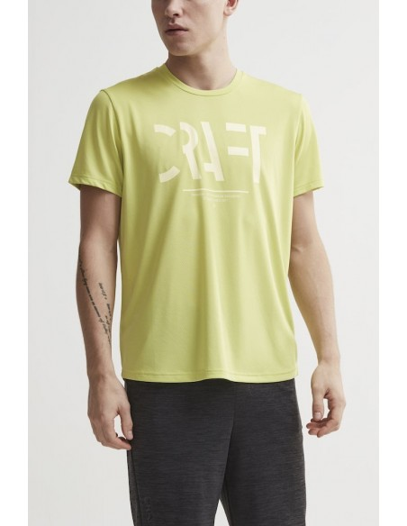 Treningowa Koszulka Męska Craft Eaze SS Logo Mesh Tee Limonkowa