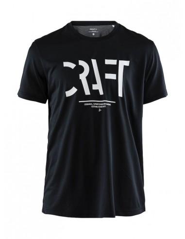Treningowa Koszulka Męska Craft Eaze SS Logo Mesh Tee Czarna
