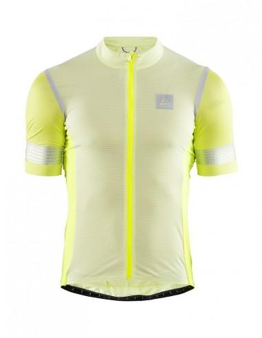 Koszulka rowerowa męska CRAFT Hale Glow Jersey żółta