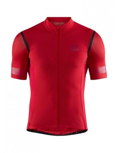 Koszulka rowerowa męska CRAFT Hale Glow Jersey Czerwona
