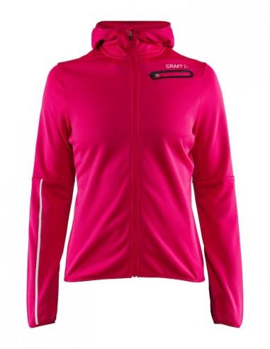 Bluza z kapturem damska Craft Eaze Jersey Hood Jacket różowa