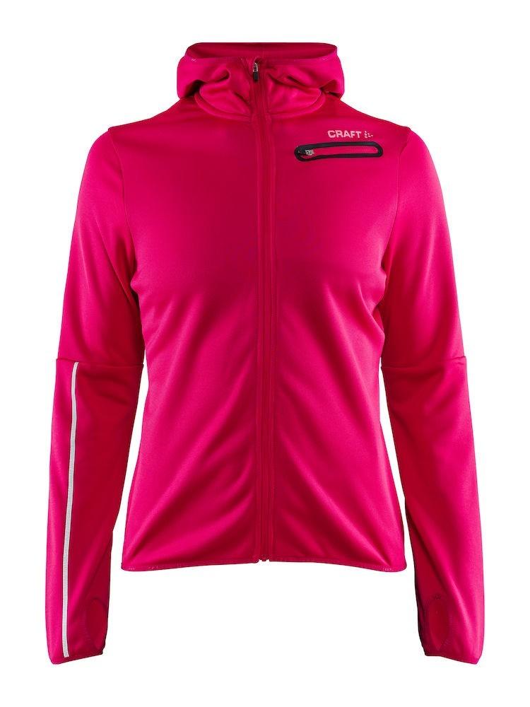 Bluza z kapturem damska Craft Eaze Jersey Hood Jacket różowa S