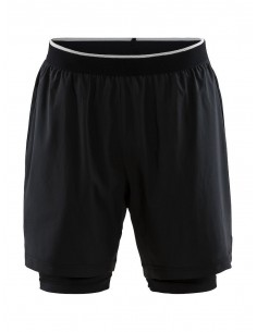 Spodenki Męskie 2 w 1 Craft Charge Shorts M Czarne