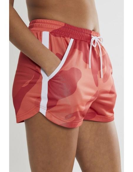 Szorty Damskie CRAFT District High Waist Shorts Różowe Camo