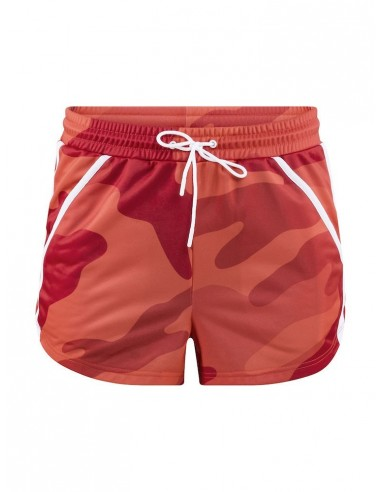 Szorty Damskie CRAFT District High Waist Shorts Różowe Camo