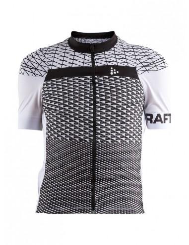 Koszulka rowerowa męska CRAFT Route Jersey Czarno - biała