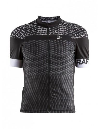 Koszulka rowerowa męska CRAFT Route Jersey Czarna