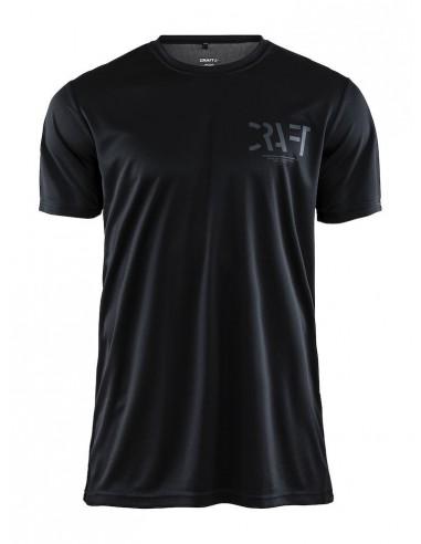 Koszulka męska sportowa Craft Eaze SS Graphic Tee czarna