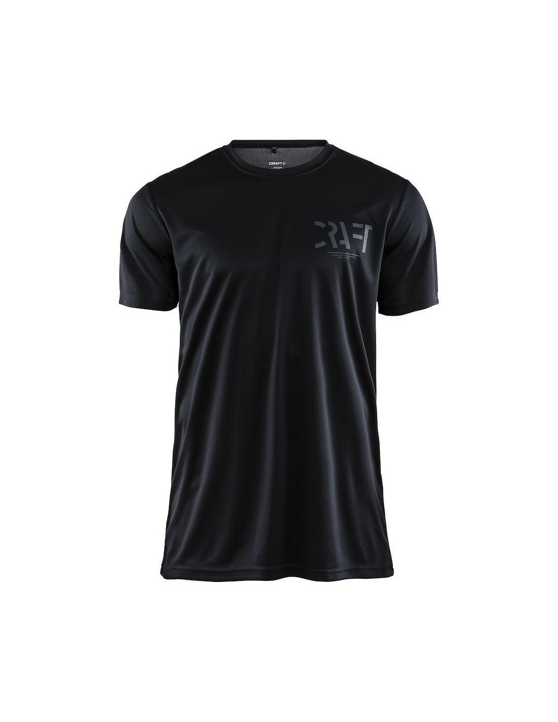 6f9e6da6a Koszulka męska sportowa Craft Eaze SS Graphic Tee czarna - STSklep