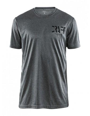 Koszulka męska sportowa Craft Eaze SS Graphic Tee szara
